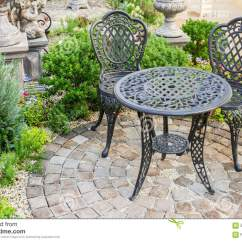Stunning Steel Chair Attacks Lounge Shampoo Decor Table And Chairs In Garden Stock Photo Image Of