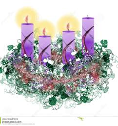 decorated floral advent wreath with three advent candles burning [ 1300 x 1219 Pixel ]