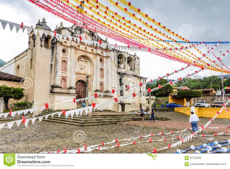 Decorating One Of Oldest Catholic Churches In Guatemala
