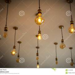 Kitchen Bulbs Island Hood Decorative Antique Light Against White Wall Interesting Idea For Or Cafe