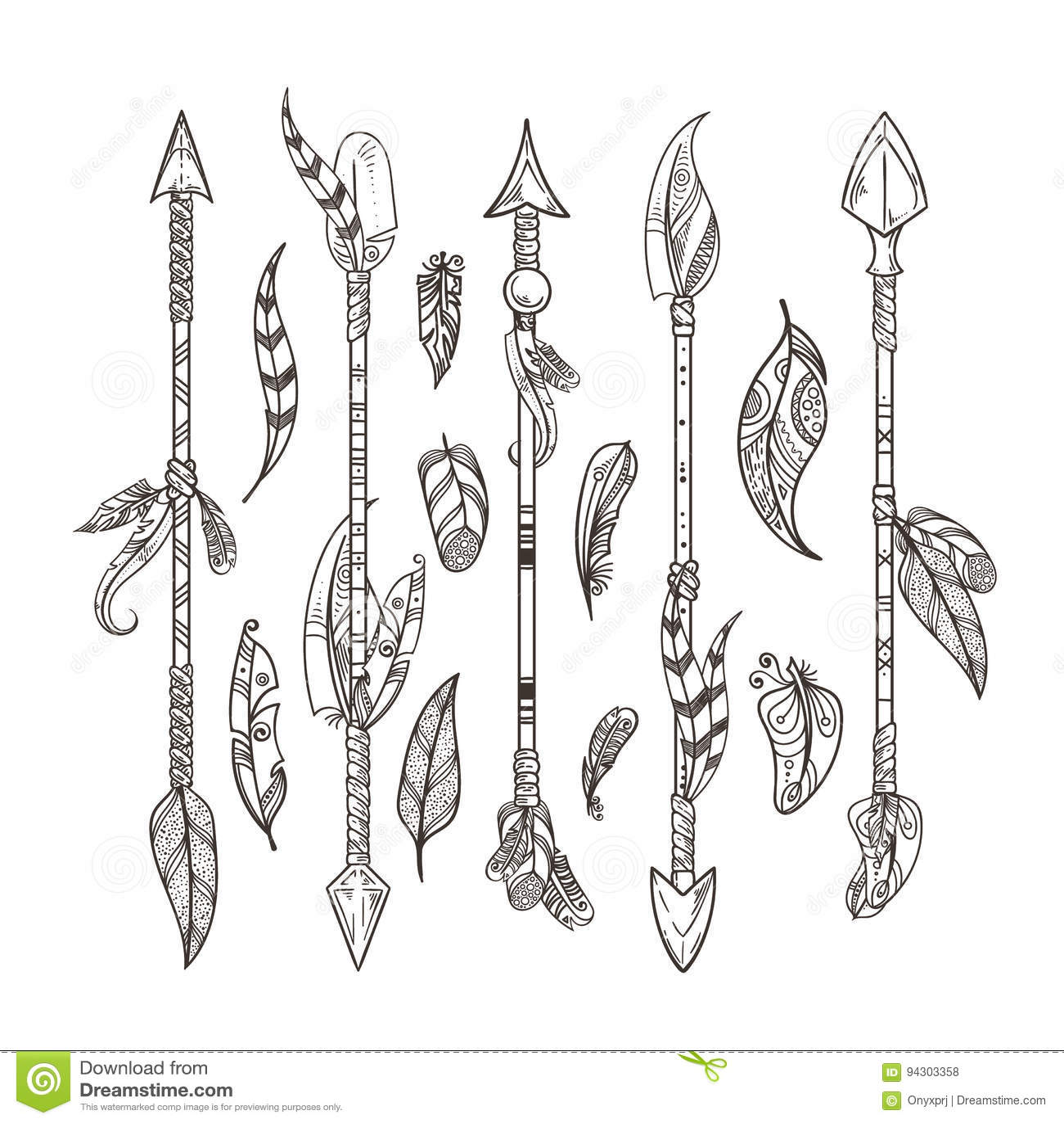 Vector Set Of Decorative Arrows Vector Illustration