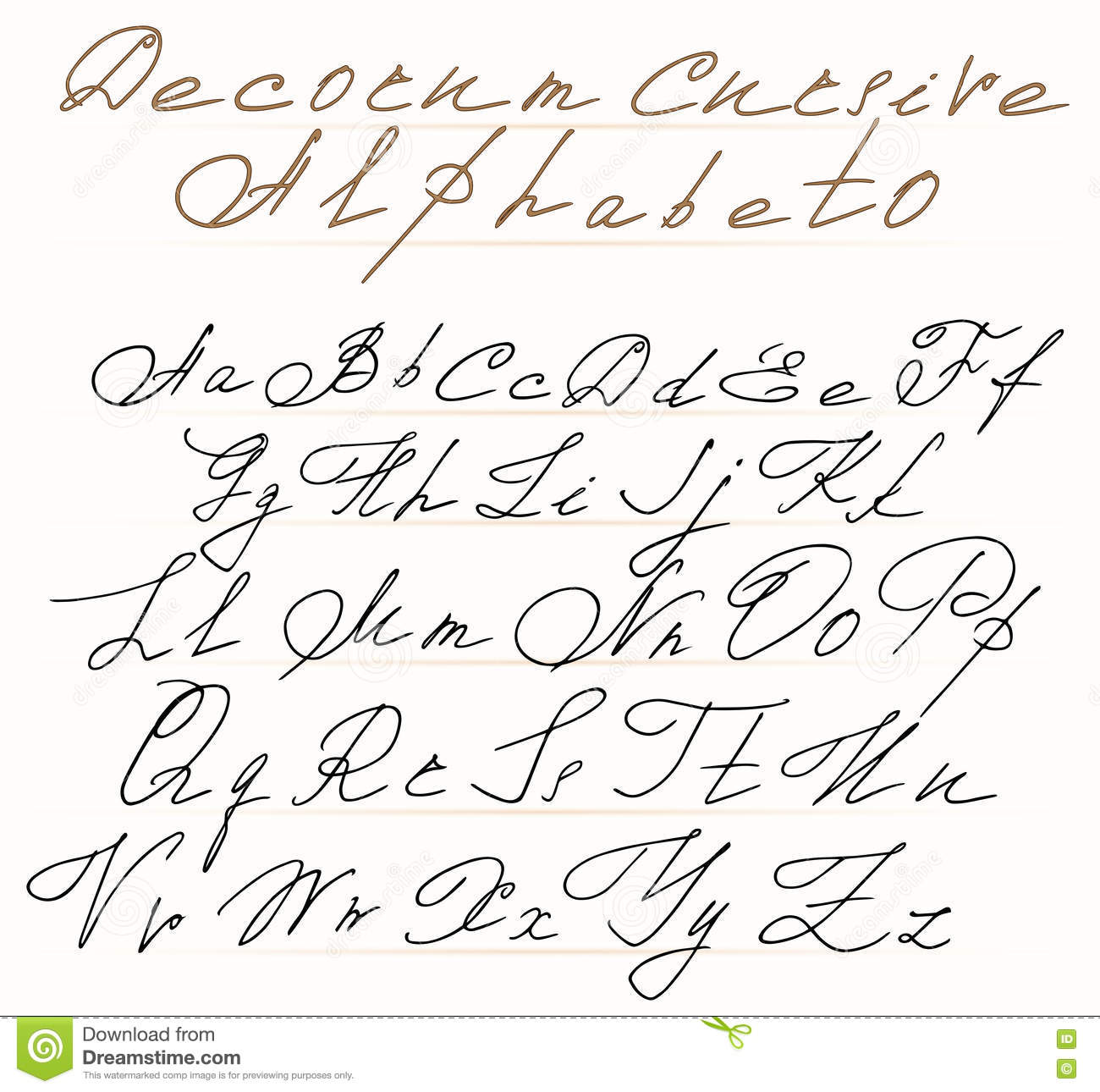 Penpals Handwriting Alphabet Cursive