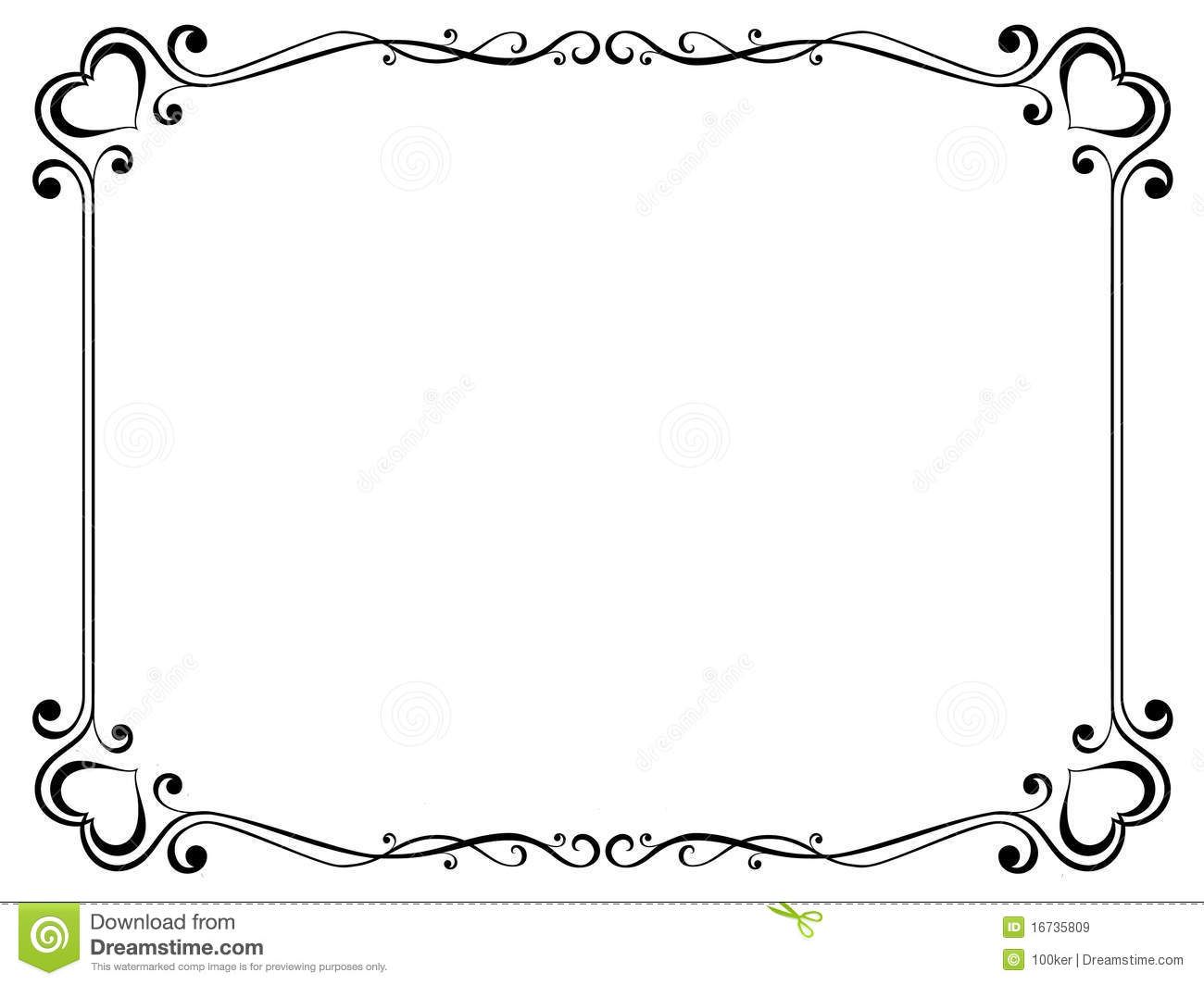 Decorative Frame With Heart Stock Vector