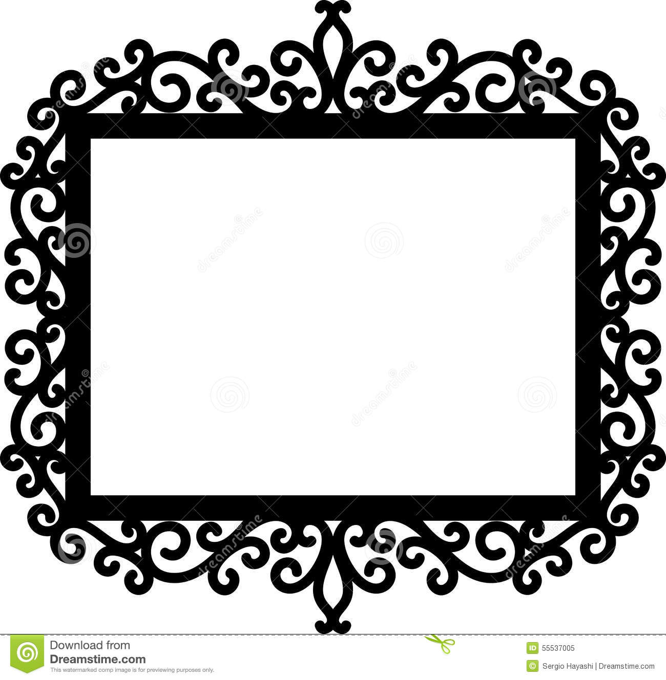 Decorative Frame Silhouette Stock Vector