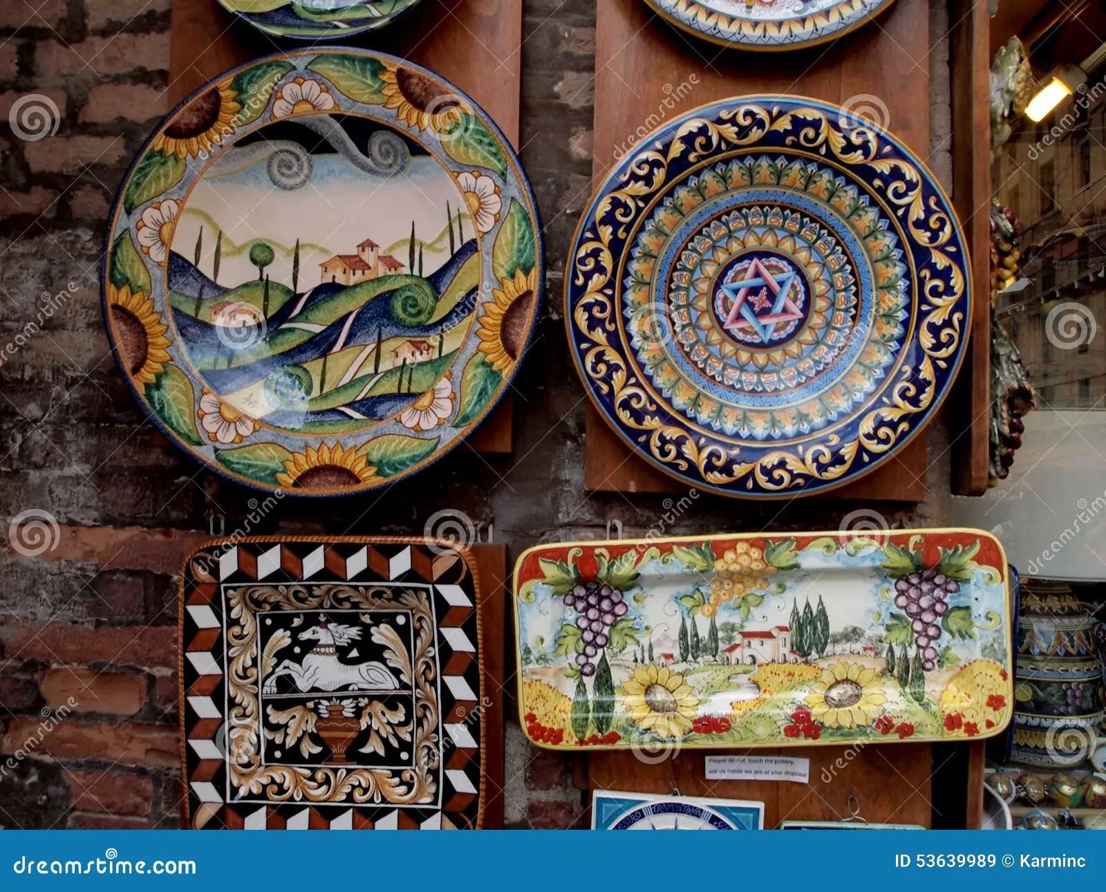 Decorative Plates In Tuscany Stock Image