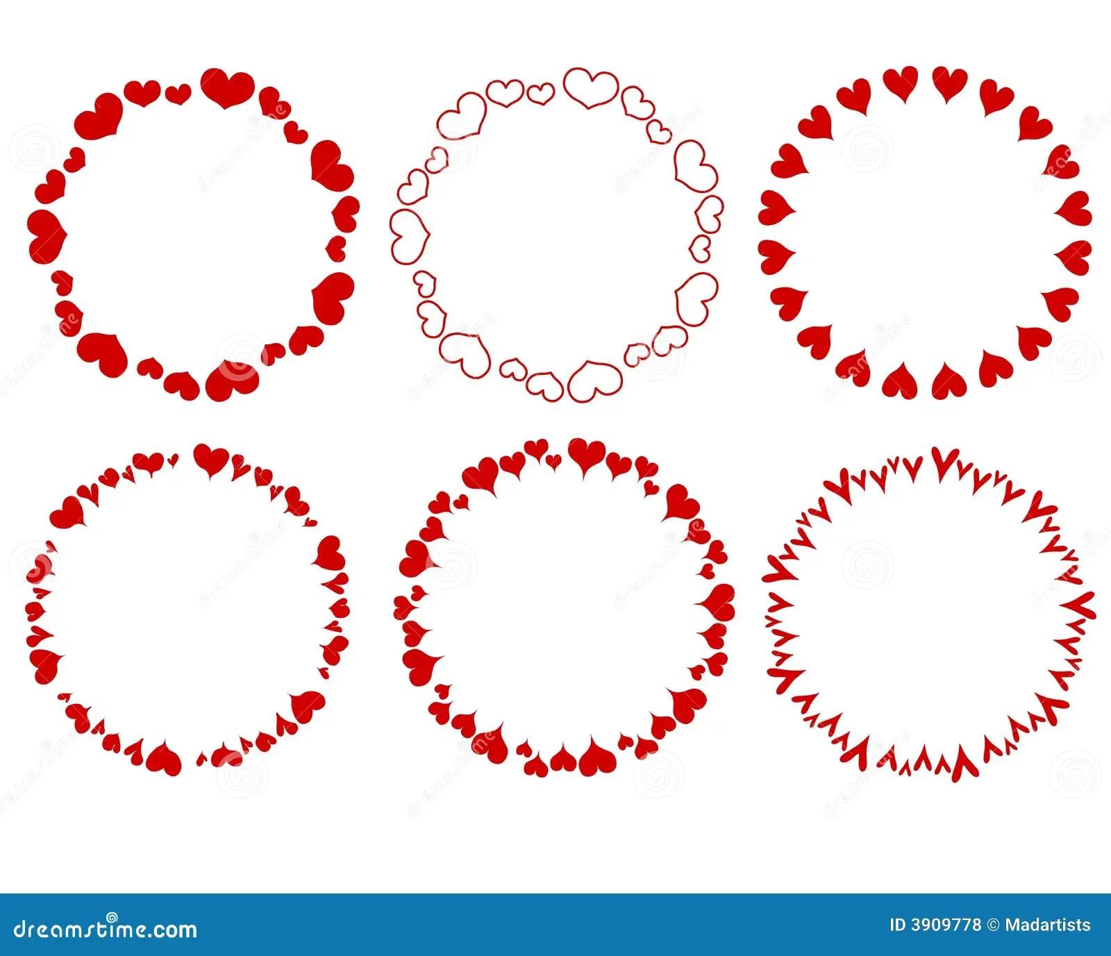 Floral Clip Circle Border Art