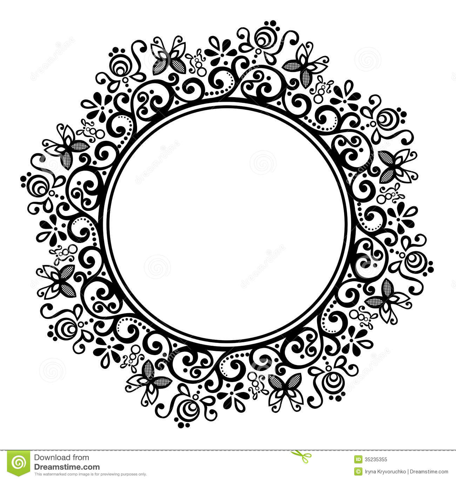 Decorative Round Frame Royalty Free Stock Photo