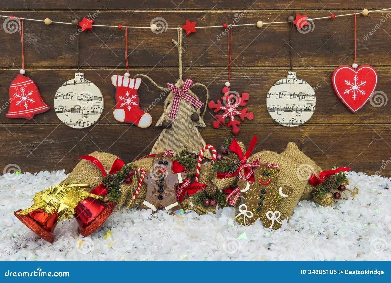 Decorazioni Rustiche Eleganti Misere Di Natale Immagine