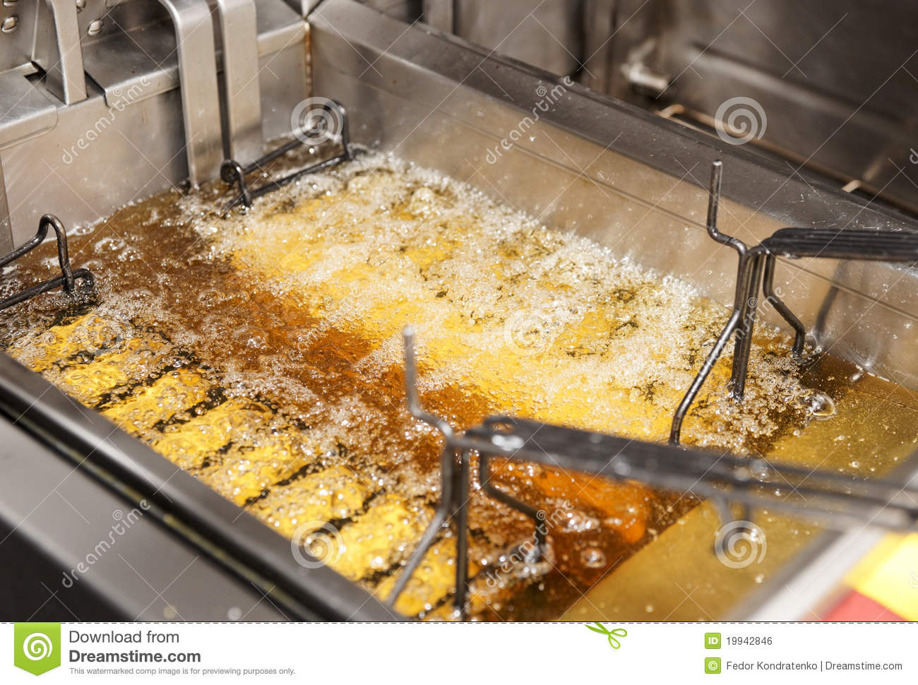 kitchen fryer antique white cabinets deep with oil on restaurant stock photo image of