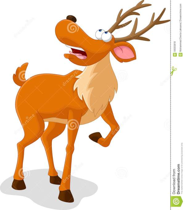 Deer Cartoon Stock Illustration - 56055818