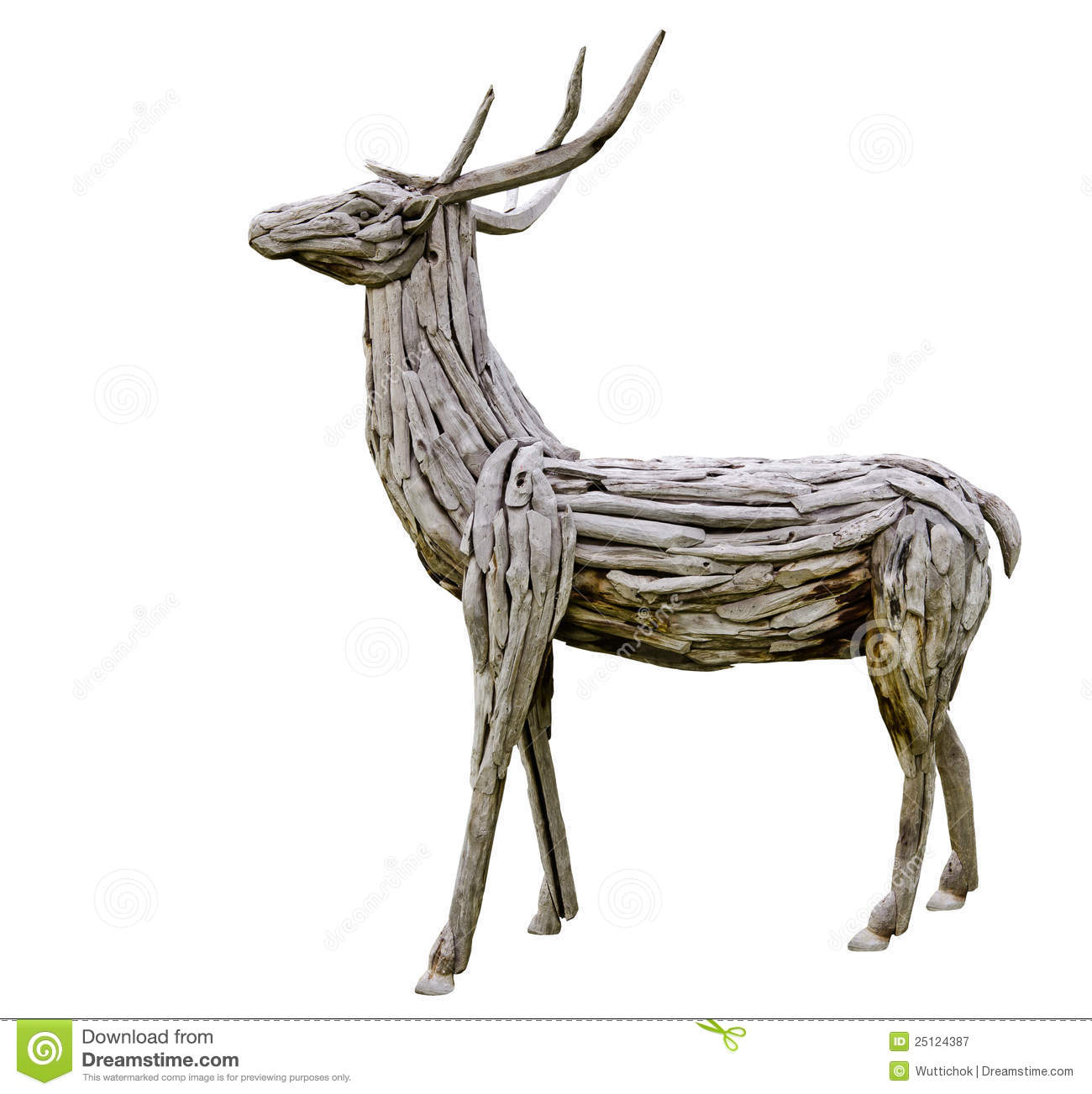 garden chair design plans benchmaster ventura leather and storage ottoman deer made from wood royalty free stock photography - image: 25124387