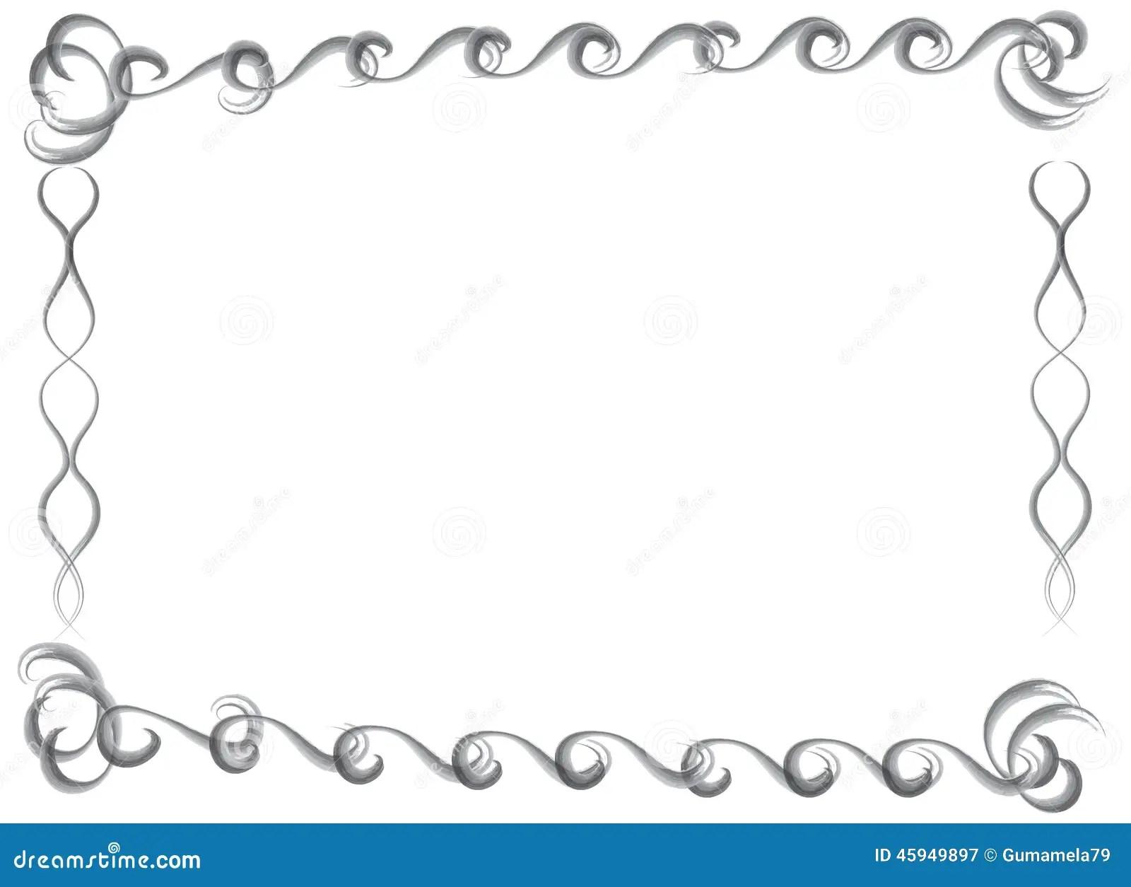 Dekorative Hand Gezeichnete Wasserfarbgrenze Und Rahmen