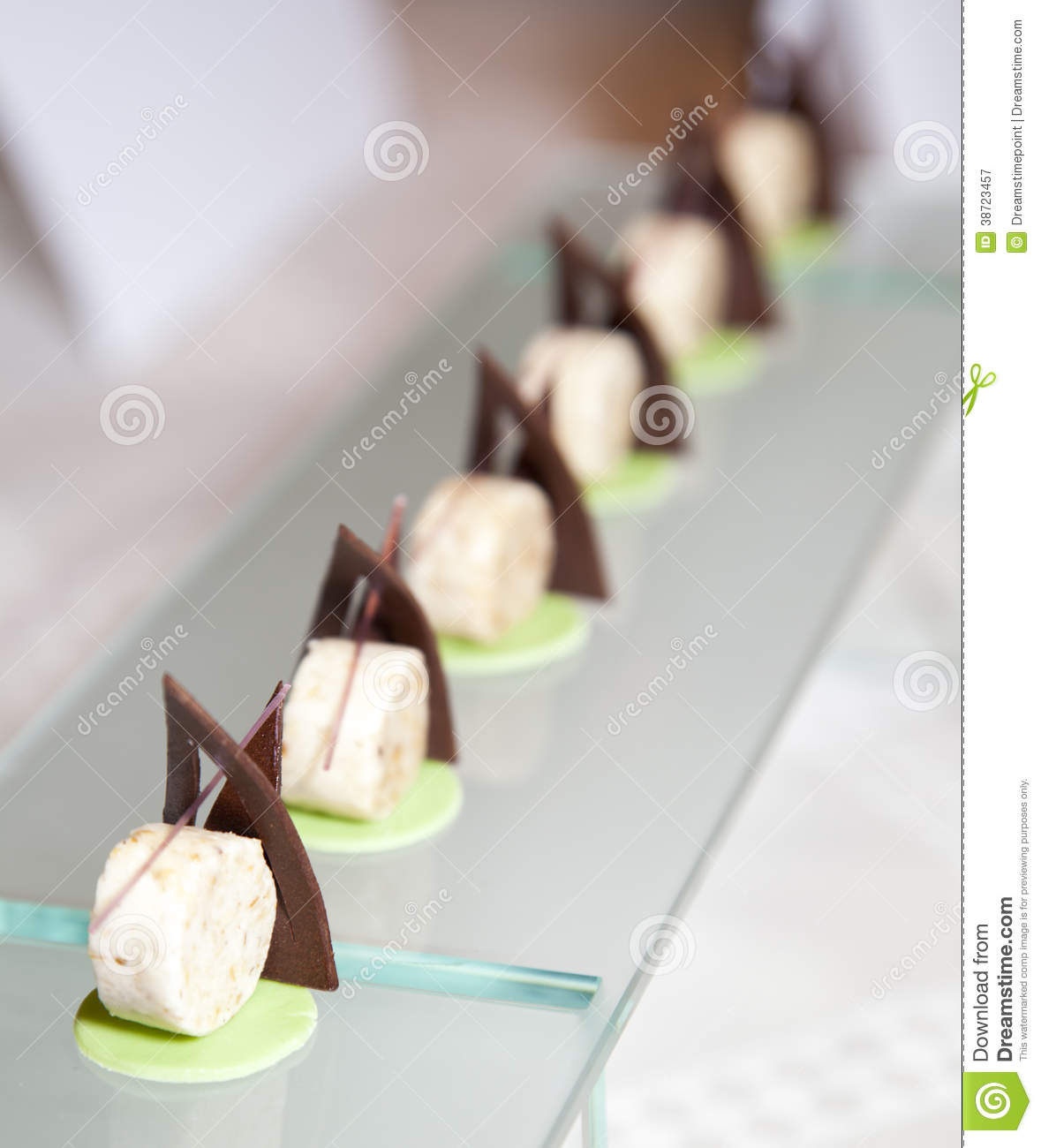 Delicious Modern Decorated Sweet Dessert Stock Image Image Of