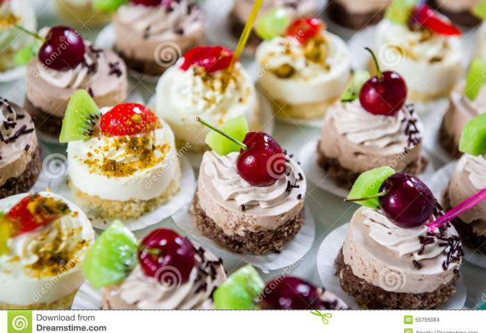 Delicious Small Fancy Cakes Stock Photo Image Of Dessert Fresh