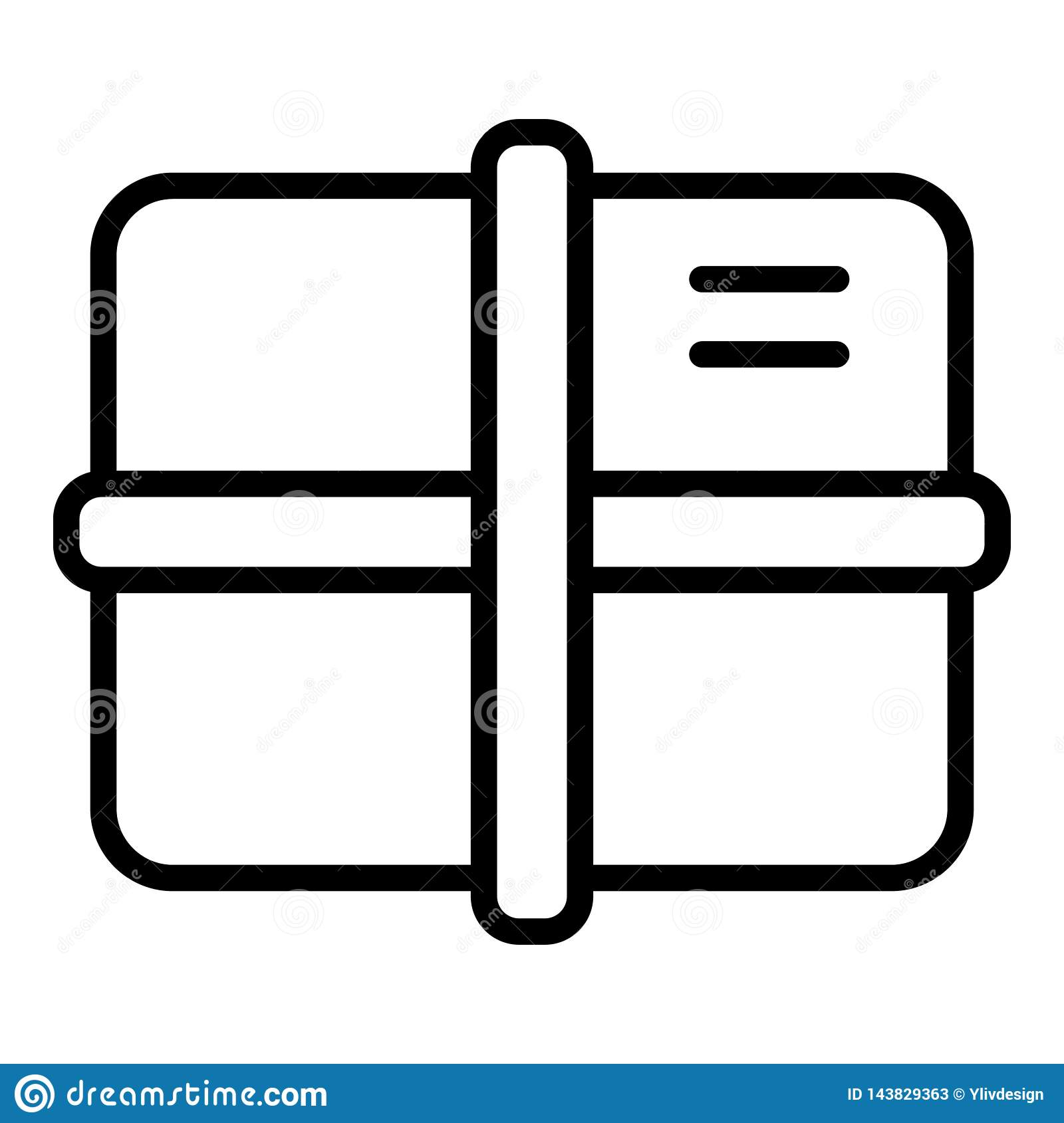 Delivery Package Icon Outline Style Stock Vector