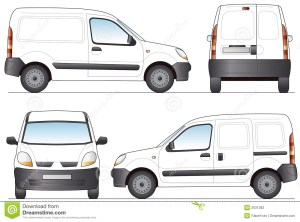 Delivery Van stock vector Illustration of object, rear  2631382