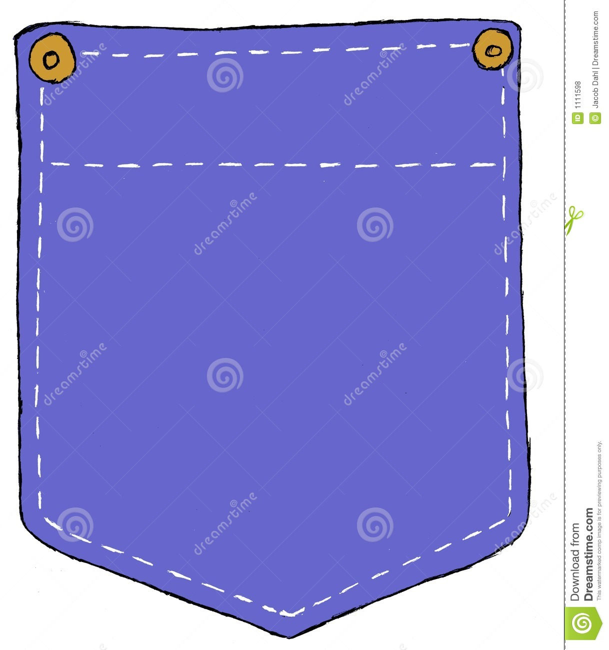 denim pocket stock illustration