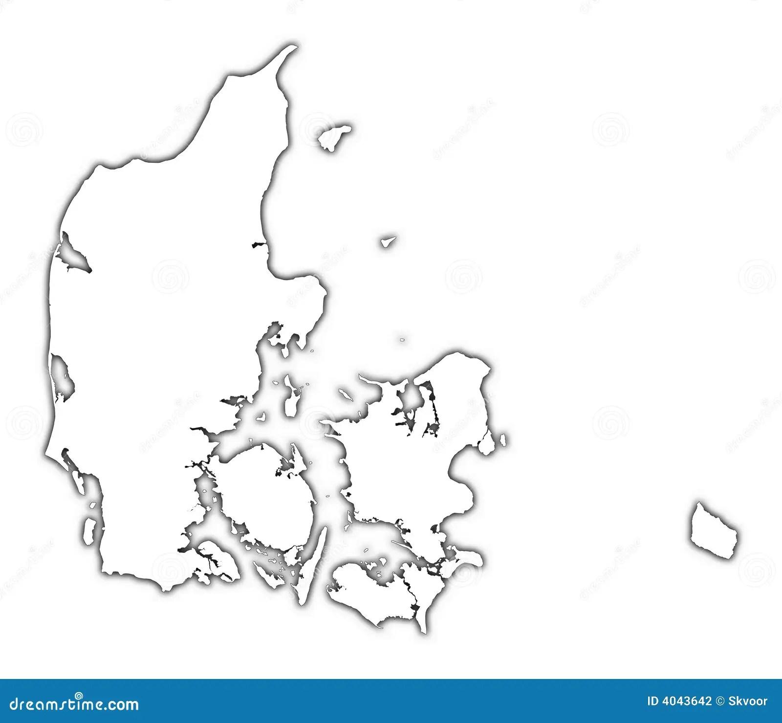 Denmark Map Stock Illustration Image Of Boundaries