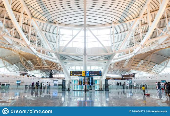 Denpasar International Airport In Bali Indonesia Editorial Photo Image Of Building Structure 144664271