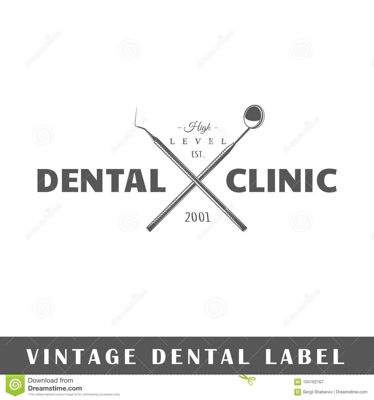 hight resolution of dental label template