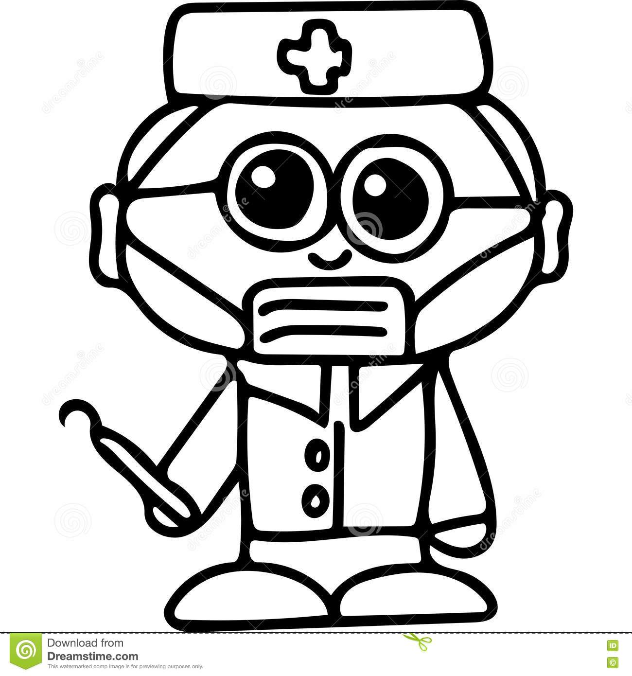 Dentist Coloring Page Stock Illustration Illustration Of