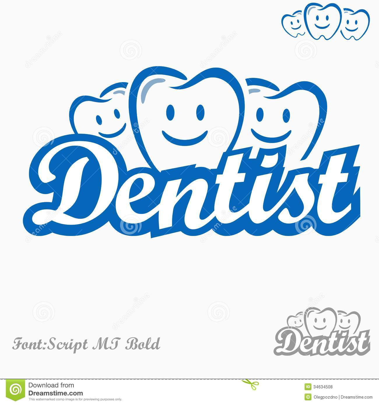 hight resolution of dentist logo