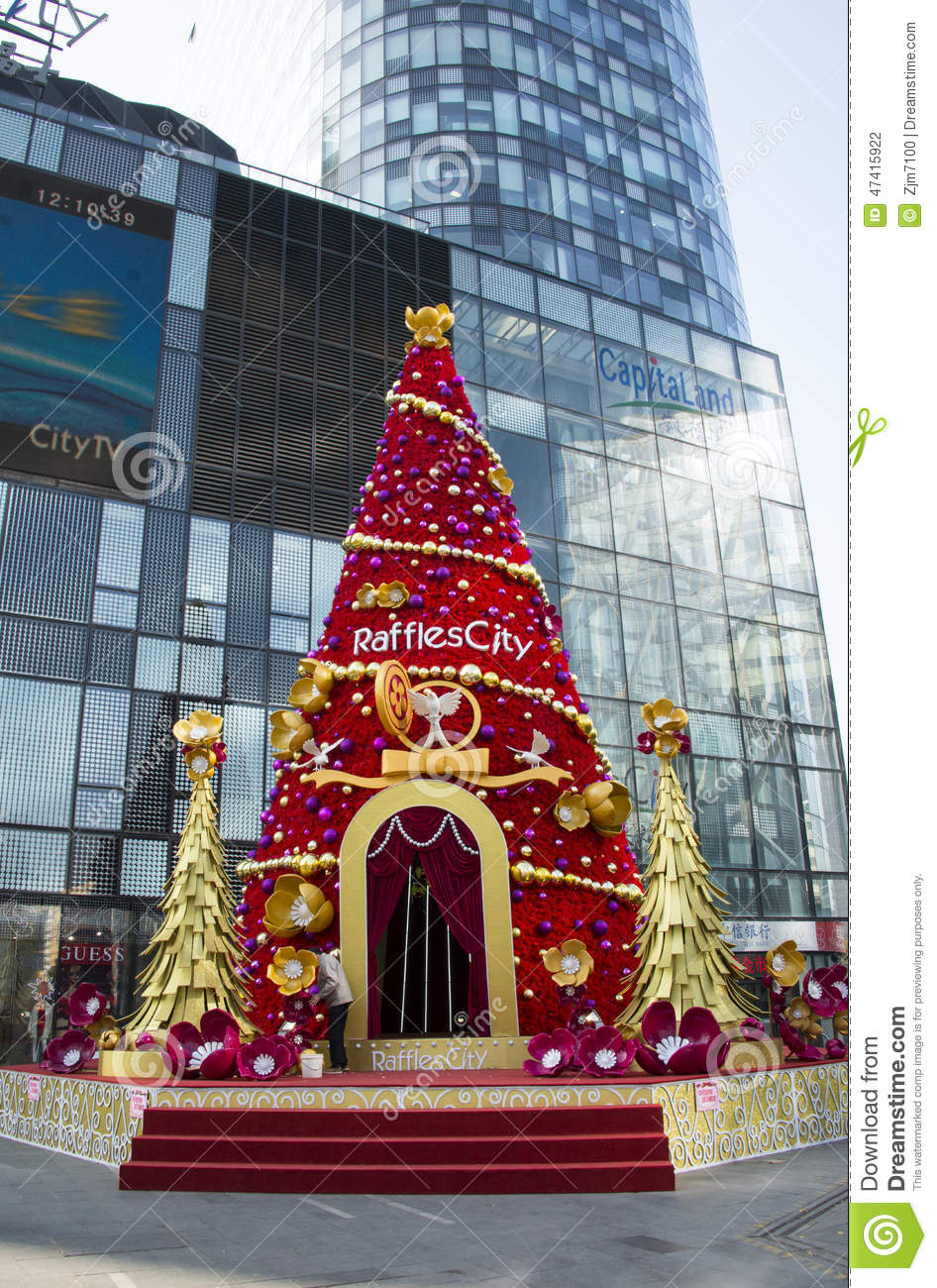 Department Stores Before Christmas Tree Editorial Photography  Image 47415922