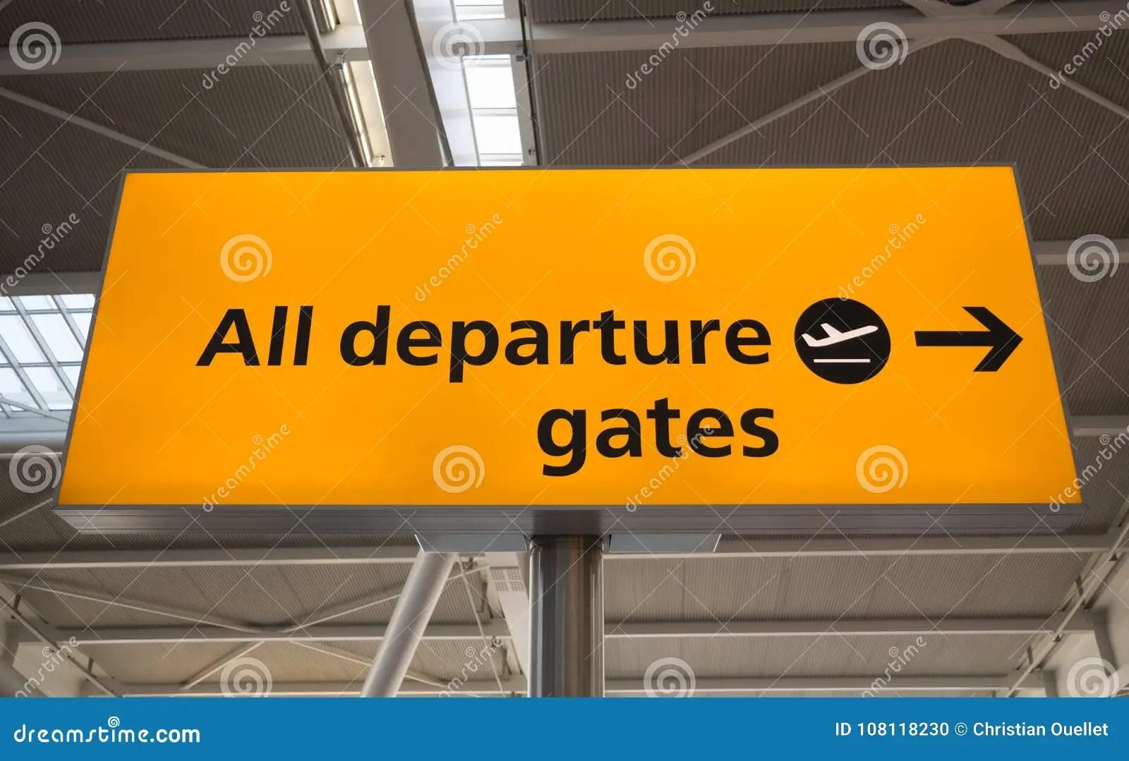 departure sign uk stock