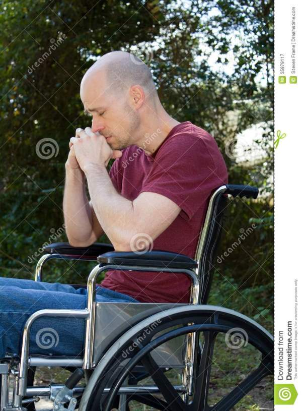 Depression Disabled Wheelchair Stock - 35979117