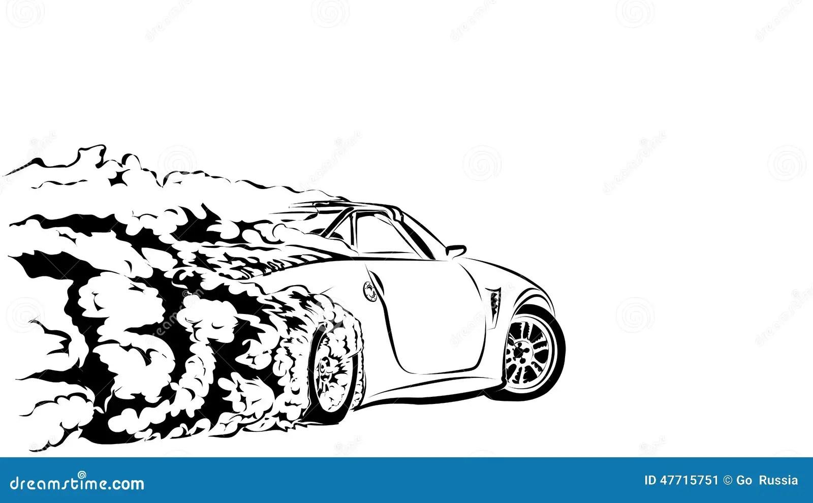 Deriva Del Deporte Del Coche Ilustracion Del Vector