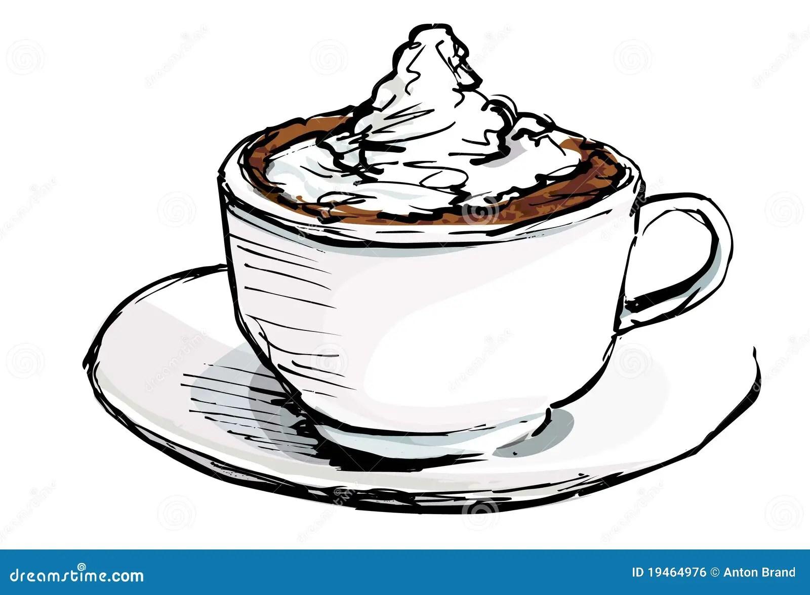 Desenhos Animados Da Chávena De Café Ilustrações, Vetores
