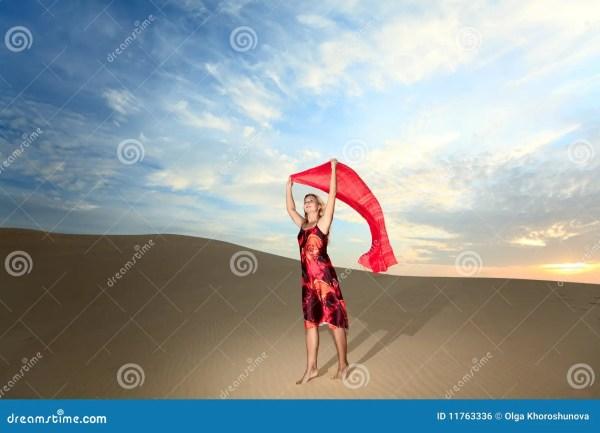 Desert Woman Royalty Free Stock - 11763336
