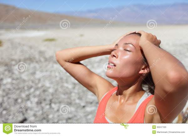 Desert Thirsty Woman