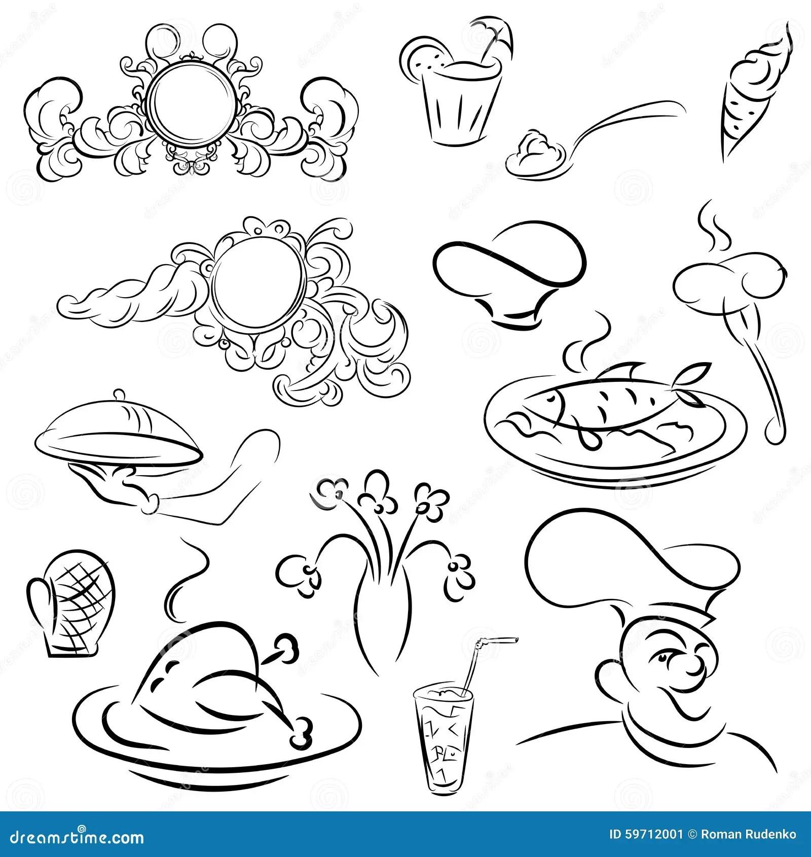 Design Elements For Design Menu Restaurant Or Cafe Vector
