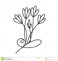 design with line art flowers transparent backdrop [ 1300 x 1390 Pixel ]