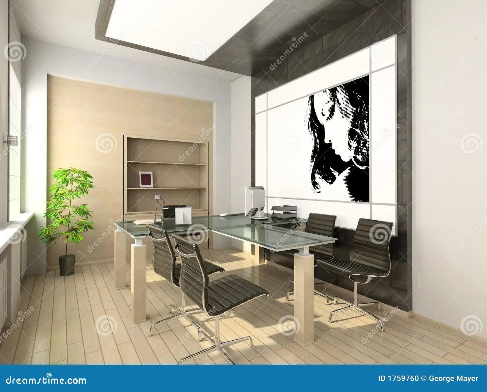 Design Of Modern Office Hitech Interior Stock