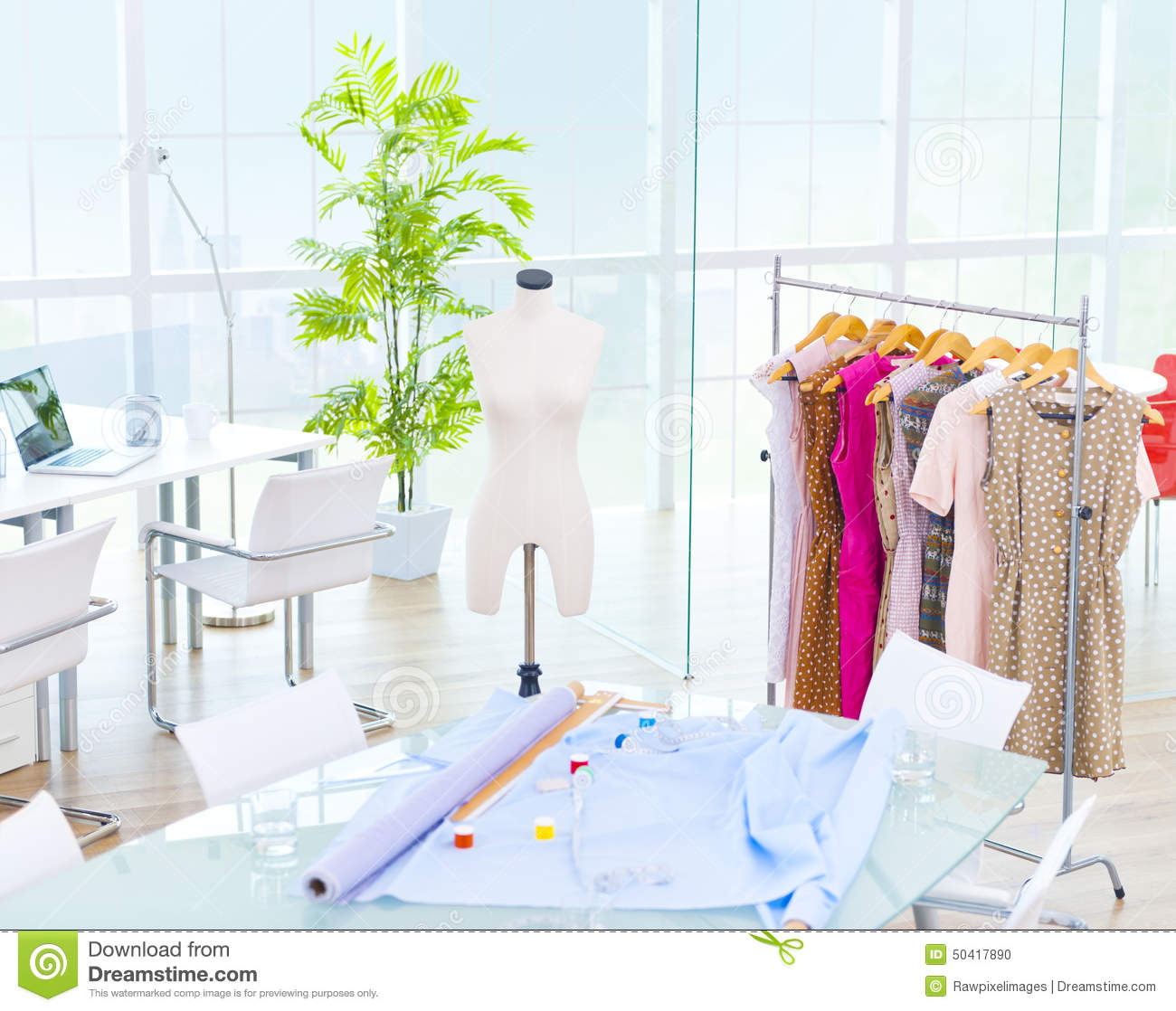 Design Room Office Fashion Studio Concept Stock Photo  Image of communications mannequin 50417890
