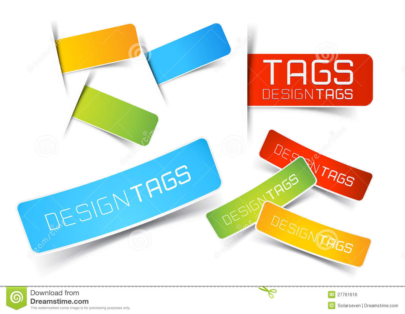Design Tags And Labels Stock Vector. Illustration Of Smart