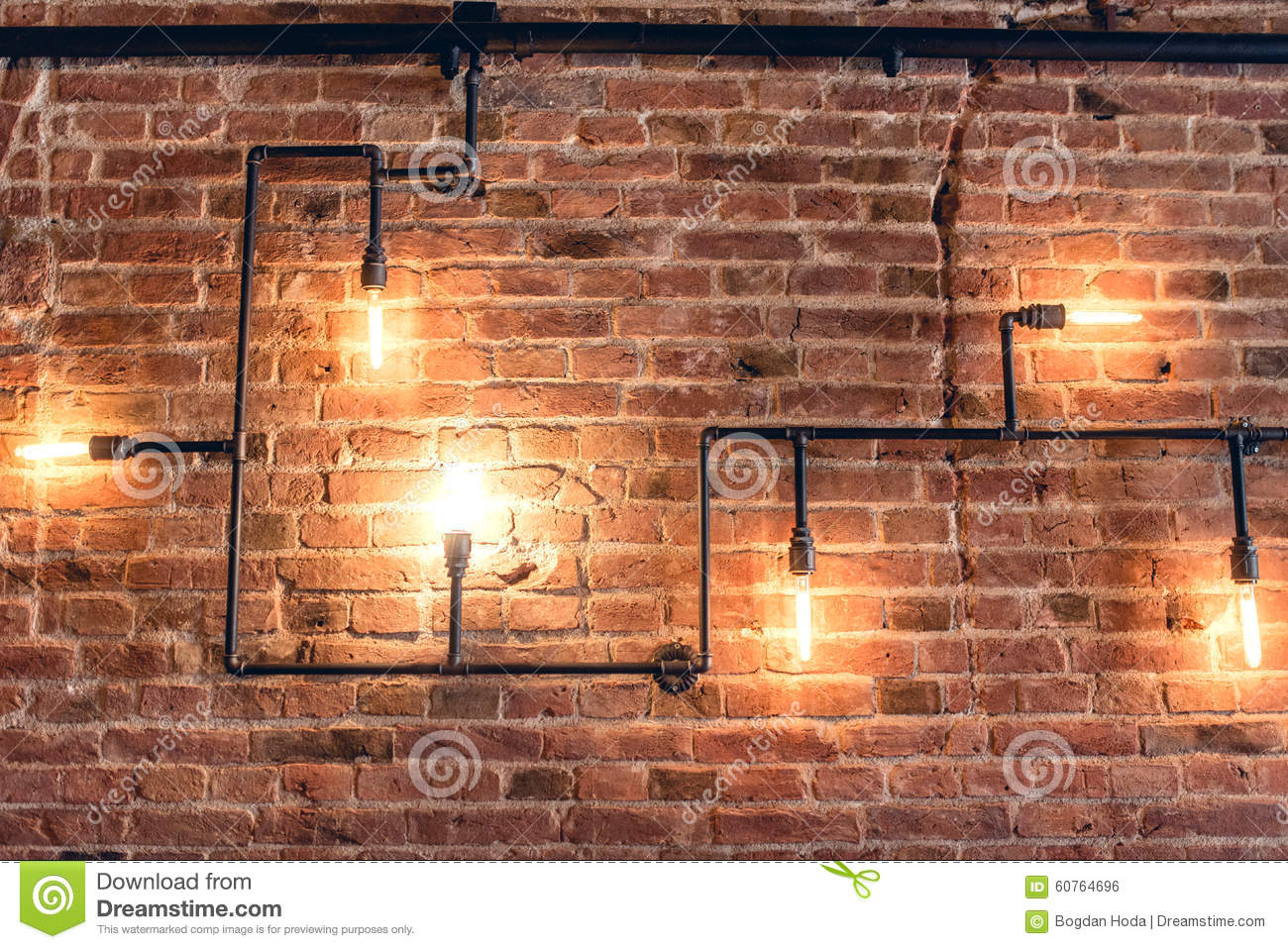 Design Of Vintage Wall. Rustic Design, Brick Wall With