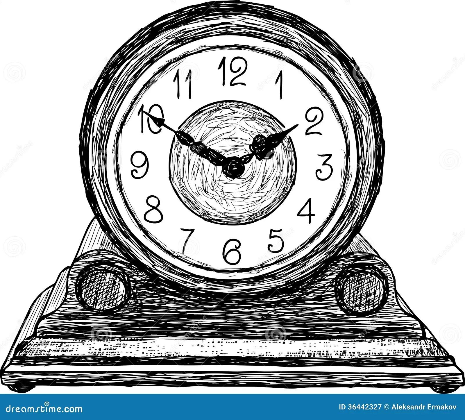 Desktop Clock Stock Vector Illustration Of Timer