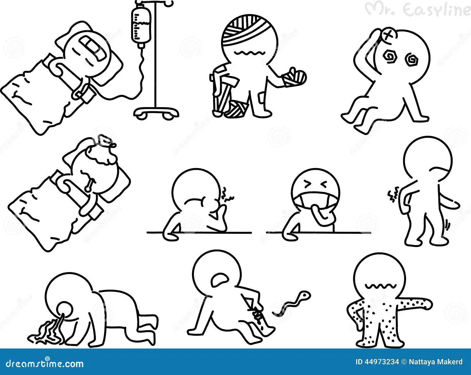 Dessin Au Crayon Comme Vecteur De Patient Illustration De