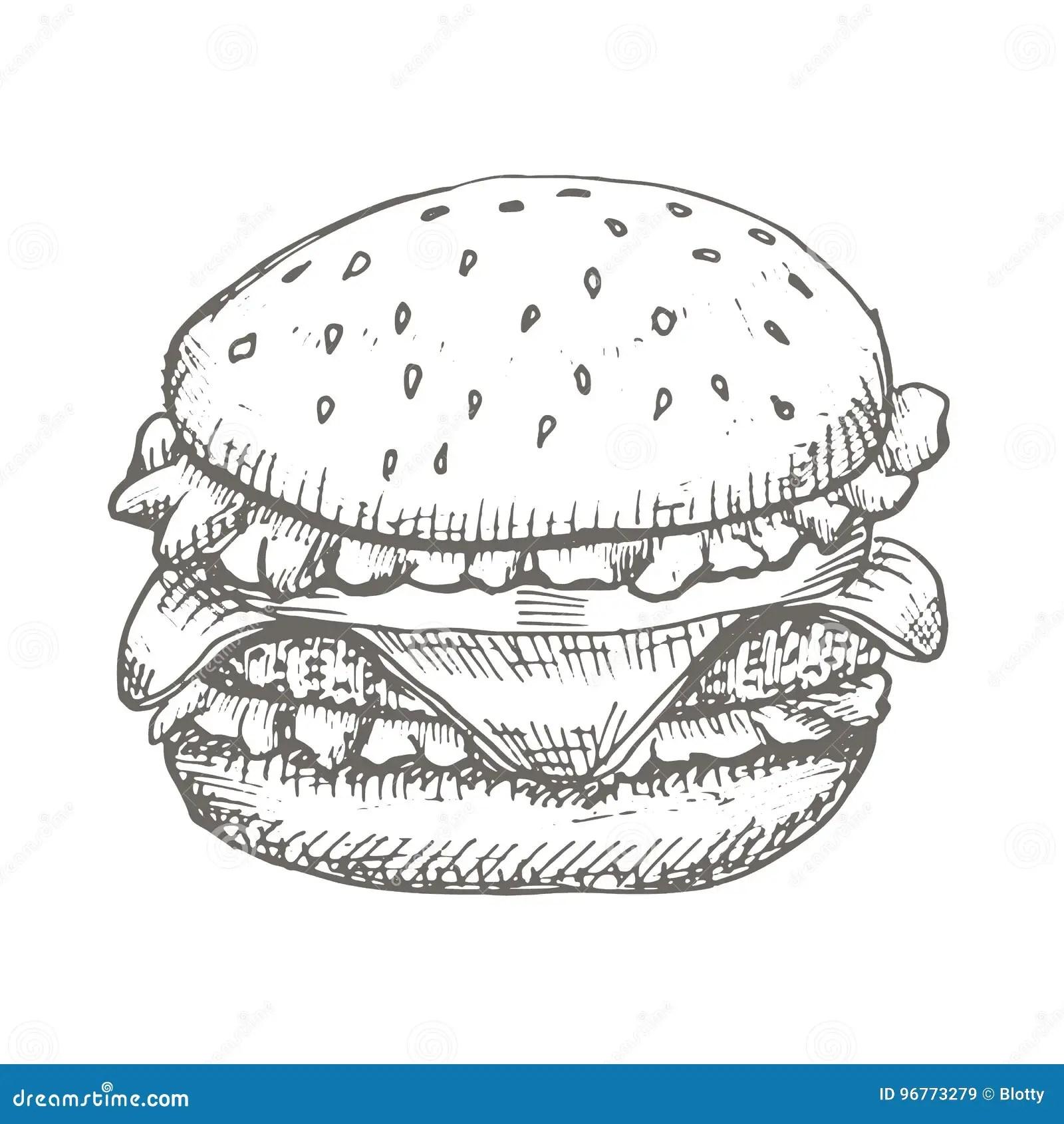 Dessin D Hamburger Stock Illustrations Vecteurs