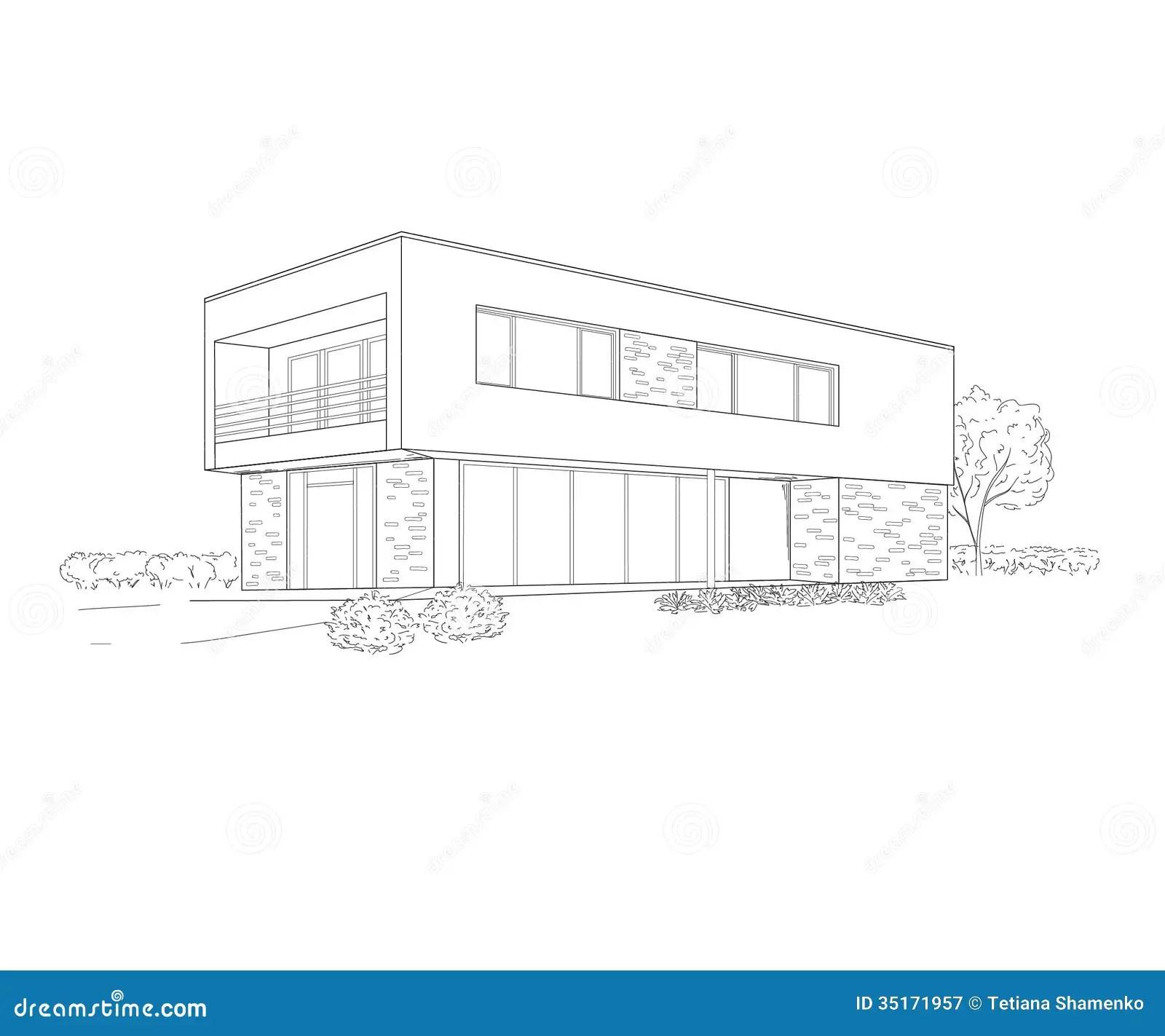 Dessin de bâtiment illustration de vecteur. Illustration
