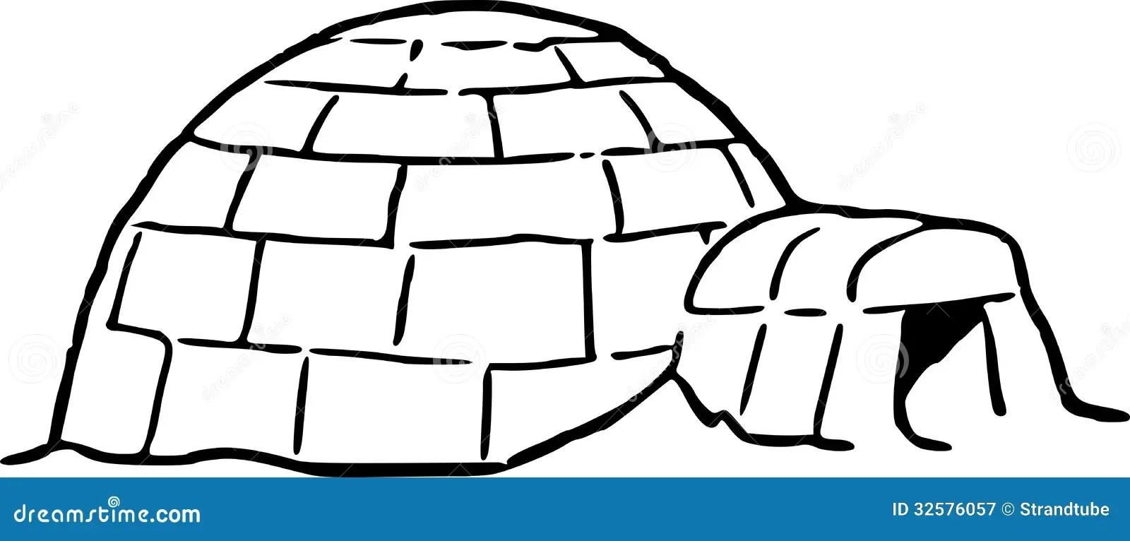 Dessin de main d'un igloo illustration de vecteur. Image