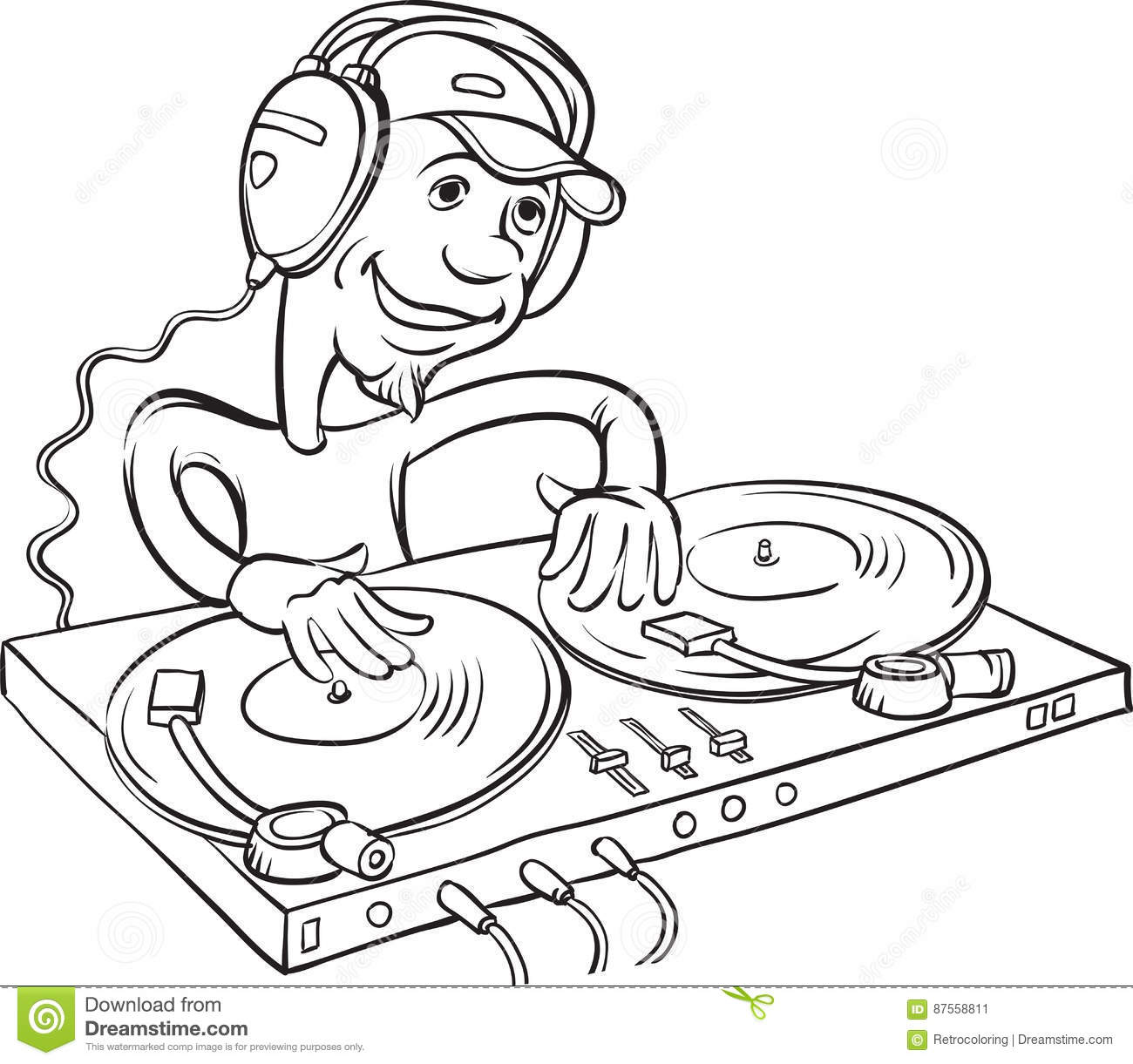 Turntable Coloring Pages Coloring Pages