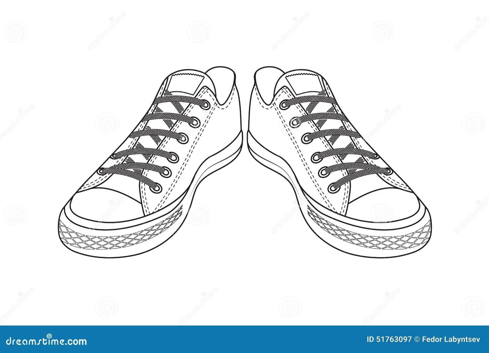 Dessin Des Chaussures De Sports Chaussures Faciles De La