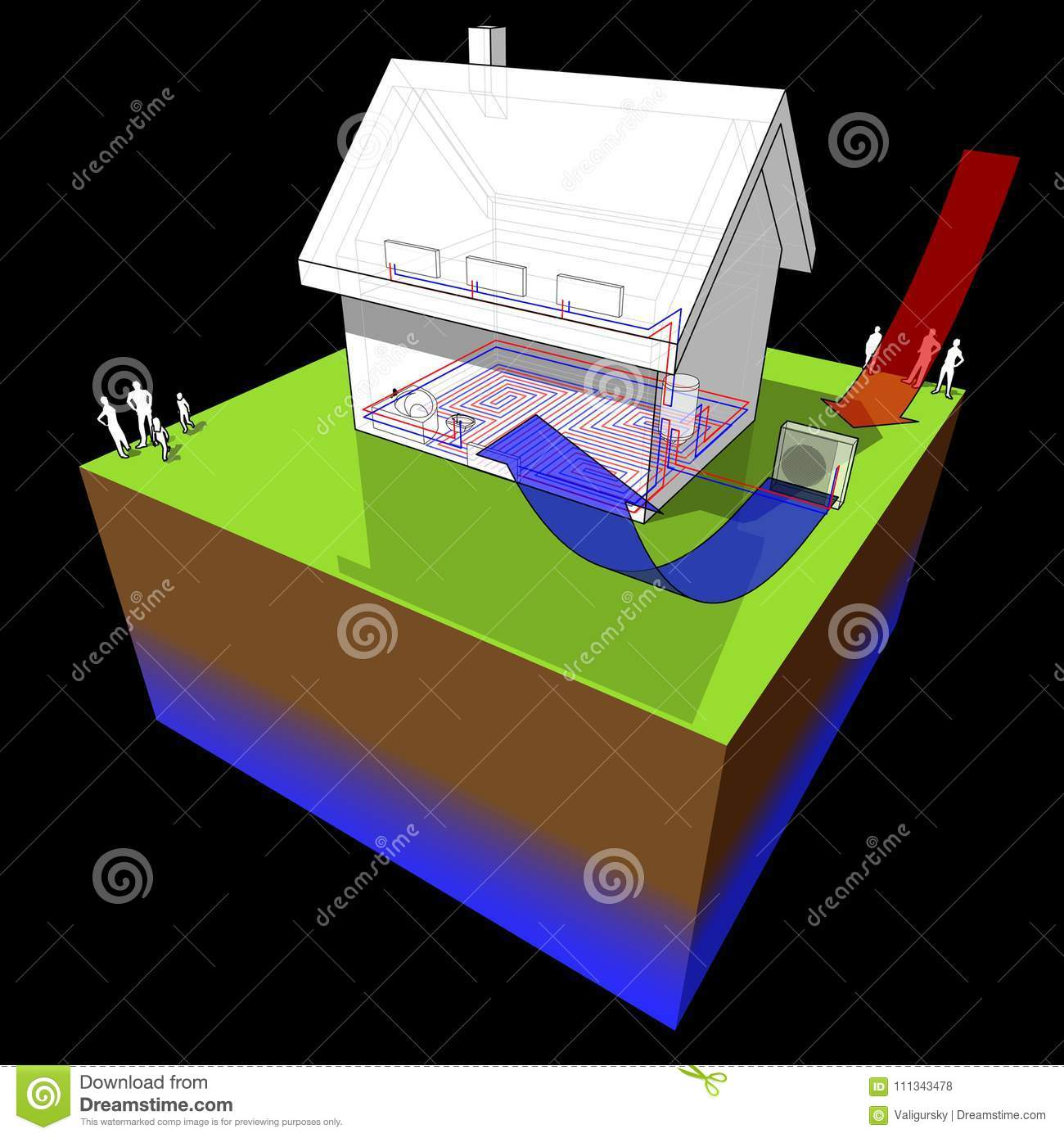 hight resolution of detached house with air source heat pump