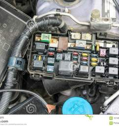 fuse box stock photo image of electrical electronics 101482922detail of a car engine bay with [ 1300 x 902 Pixel ]