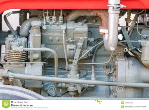 small resolution of detail of old tractor machine or engine whit visible fuel pump air compressor