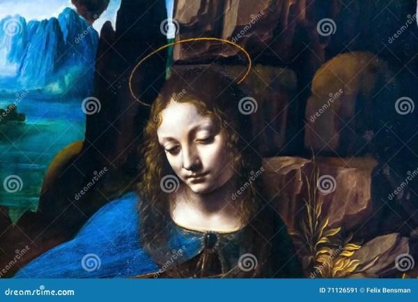 Leonardo Da Vinci the Virgin National Gallery of Rocks